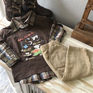 Boys shirt and pants size 18 month
